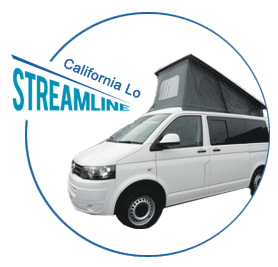 California Super Lo Campervan Roof shown on vehicle