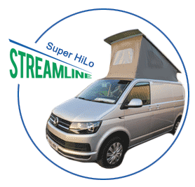 Super HiLo Campervan Roof shown on vehicle